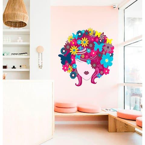 Beauty Salon Flowers Wall Decal, Beauty Salon Flowers Wall sticker, Beauty Salon Flowers wall decor