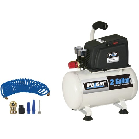 Pulsar PCE6021K Compact Portable Air Compressor, 2 Gallon, 100 PSI