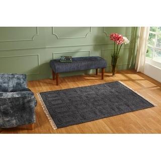 Better Trends Gazali Collection Durable Mildew Moisture Resistant Reversible Indoor Area Utility Rug 100% Wool in Vibrant Colors