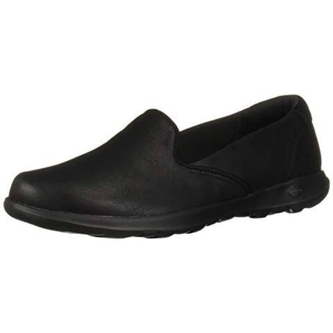 Skechers Women's GO Walk LITE - QUEENLY Loafer Flat, Black, 8 Narrow US