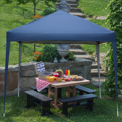 Outdoor Tent 3 x 3m Practical Waterproof Right-Angle Folding Tent Blue