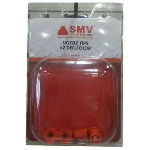 SMV NT2 #2 Deflector Replacement Nozzle Tip, Red, 4-Pack