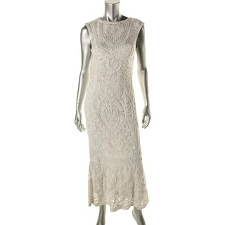 JS Collections Womens Mesh Soutache Semi-Formal Dress
