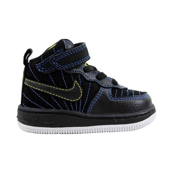 6f767c88a72f91 Shop Nike Air Jordan AJF 12 Black Blue Sapphire-Cyber Toddler 407279 ...