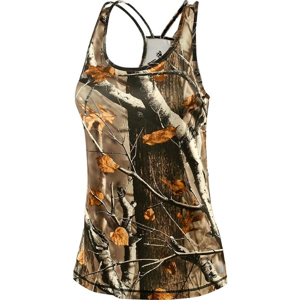 Legendary Whitetails Women's Big Game Camo Game Changer Tank - big game field camo