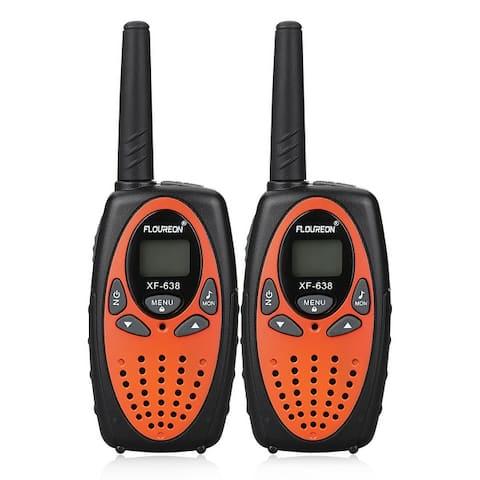 FLOUREON 22 Channel Twin Walkie Talkies UHF462-467MHz 2-Way Radio 3KM Interphone