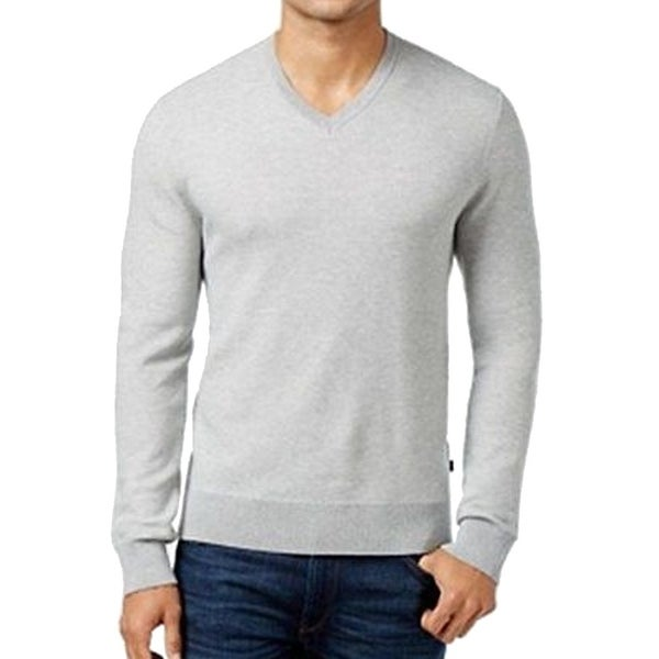 Michael Kors NEW Heather Gray Mens Size 2XL Pullover V-Neck Sweater