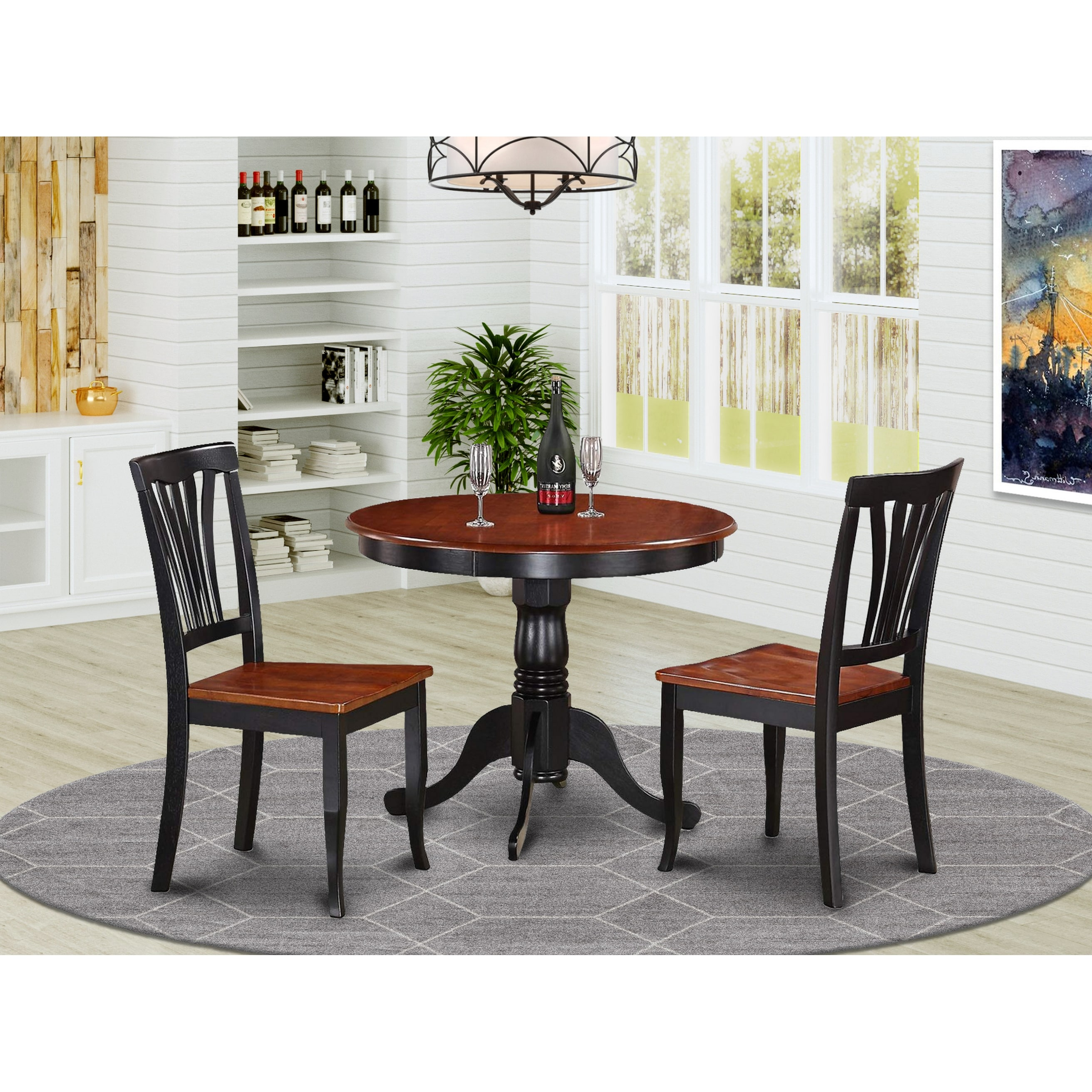 9 piece Kitchen Nook Dining Set   Small Kitchen Table and 9 Kitchen Chairs
