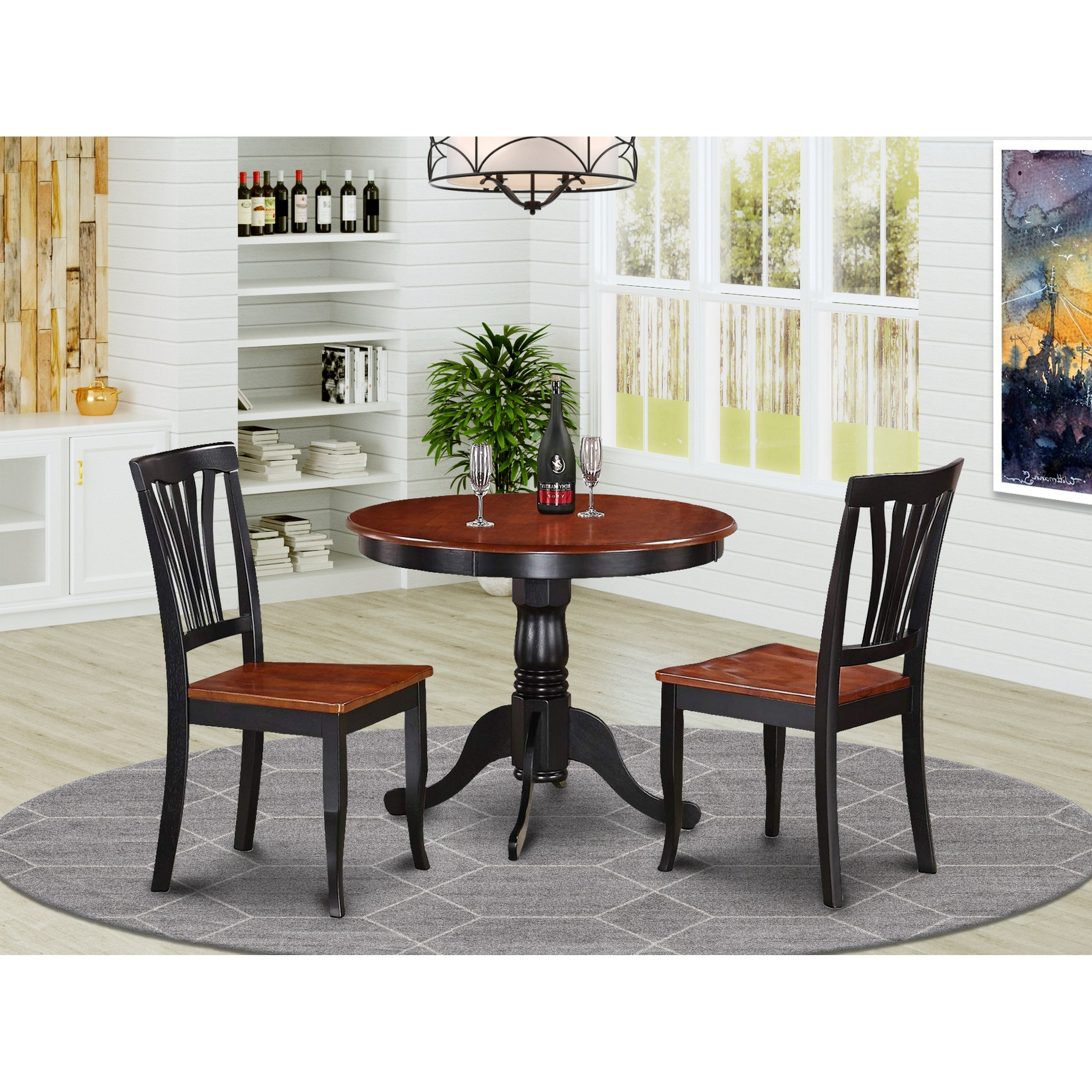 9-Piece Kitchen Nook Dining Set-Small Kitchen Table and 9 Kitchen Chairs