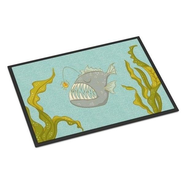 Carolines Treasures BB8541MAT Frog Fish Indoor or Outdoor Mat - 18 x 27 in.