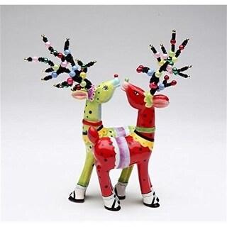 Cosmos Gifts 61949 Magnetic Reindeer Salt & Pepper