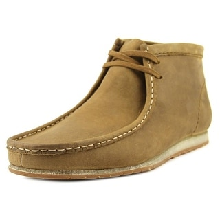 Clarks Wallabee Step Boot Men  Moc Toe Leather Tan Chukka Boot