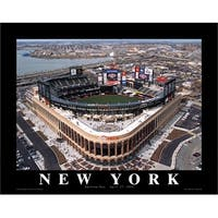 ''Citi Field: New York Mets Opening Day, 2009 - Flushing, New York'' by Mike Smith Stadiums Art Print (22 x 28 in.)
