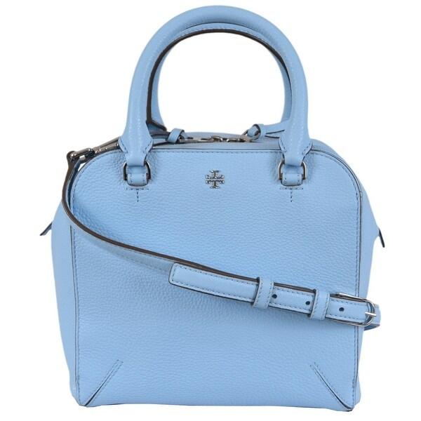 51f21d47434 Shop Tory Burch Blue Leather Robinson Mini Crossbody Satchel Purse ...