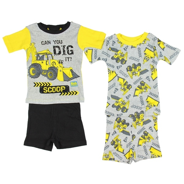 b8426d7d6 Bob the Builder Toddler Boys' Scoop Cotton 4-Piece Pajama Set. Click to  Zoom