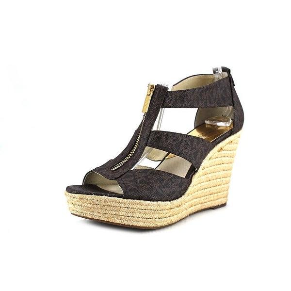 8326cfe5fe66 Michael Michael Kors Damita Wedge Women Open Toe Synthetic Brown Wedge  Sandal