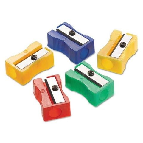 Manual Pencil Sharpeners, Red, Blue, Green & Yellow