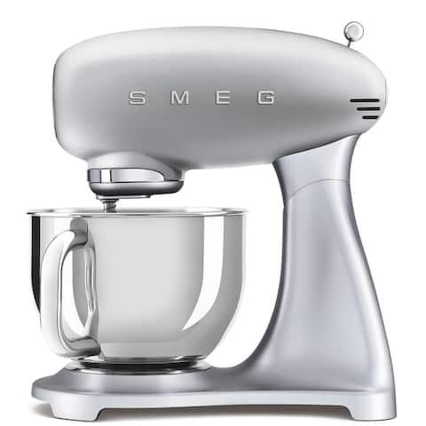 Smeg 50's Retro Style Aesthetic Stand Mixer, Silver