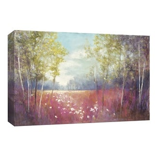 "PTM Images 9-153683  PTM Canvas Collection 8"" x 10"" - ""Purple Field Crop"" Giclee Forests Art Print on Canvas"