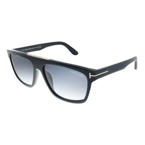 Tom Ford Cecilio-02 TF 628 01B Unisex Black Frame Grey Gradient Lens Sunglasses