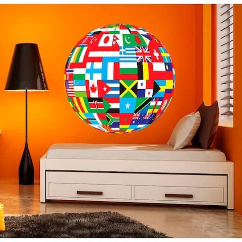 World Maps Decal, World Maps Sticker, School Decal, School Sticker, School Room Decor