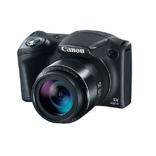 Canon 1068C001 Powershot Sx420 Is 20 Megapixel Compact Camera - Black