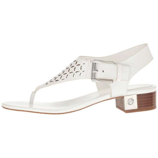 MICHAEL Michael Kors Womens London Thong Leather Split Toe Casual T-Strap San...