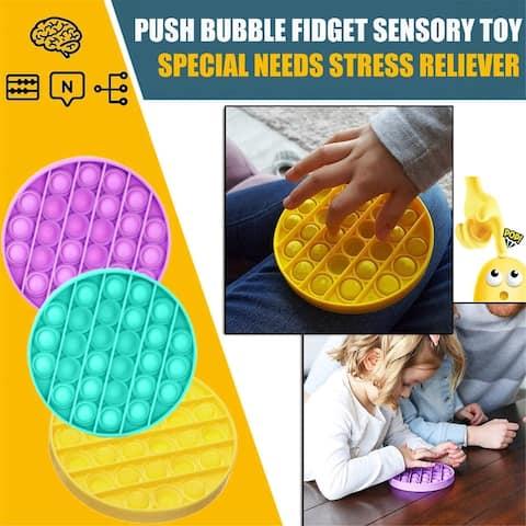 Bubble Sensory Fidget Toy, Stress Reliever Silicone Stress Reliever Toy, Squeeze Sensory Toy