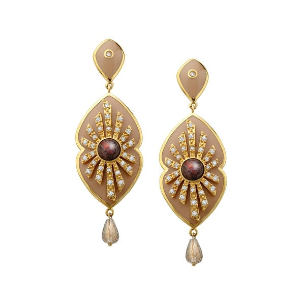 Cristina Sabatini Energy Star Earrings with Cubic Zirconia in 14K Gold-Plated Sterling Silver
