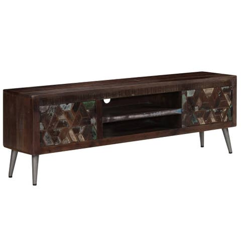 "vidaXL TV Cabinet Solid Reclaimed Wood 55.1""x11.8""x17.7"""