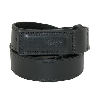 Dickies Men's Leather Covered Buckle Mechanics and Movers Belt - Black