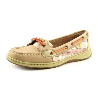 Sperry Top Sider Angelfish Women Moc Toe Leather Nude Boat Shoe