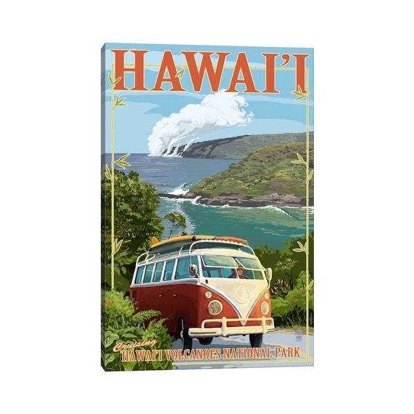 "iCanvas ""Hawai'i Volcanoes National Park (VW Type 2)"" by Lantern Press Canvas Print"