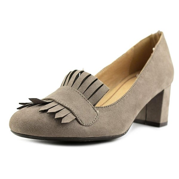 CL By Laundry Anete Women Round Toe Canvas Gray Heels