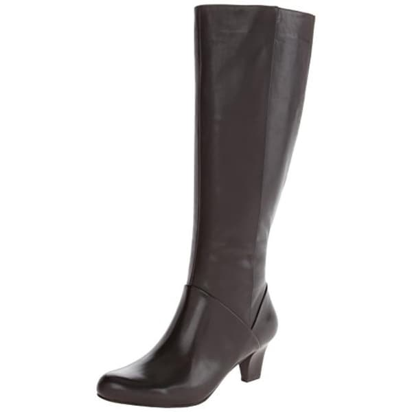 Trotters Womens Posh Knee-High Boots Leather Harness