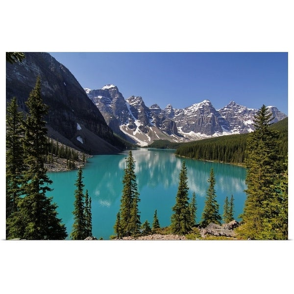 """Moraine, Lake, Banff Nationalpark, Alberta, Canada"" Poster Print"