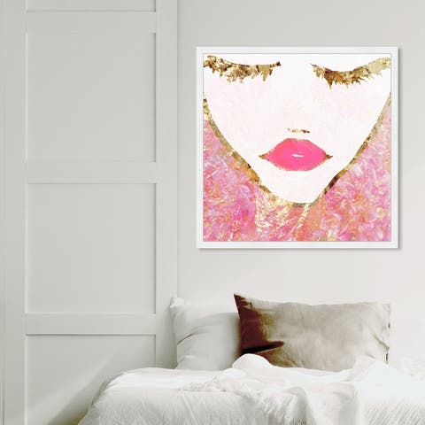 Oliver Gal 'Goldbloom Coveted & Square' Glam Wall Art Framed