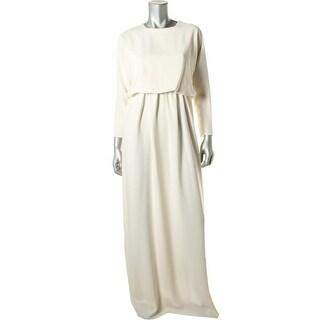 Kalmanovich Womens Evening Dress Silk Blend Long Sleeves - 6