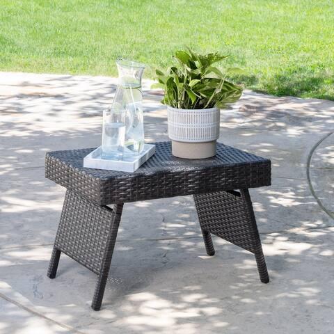 Abbyson Benton Outdoor Patio Side Table