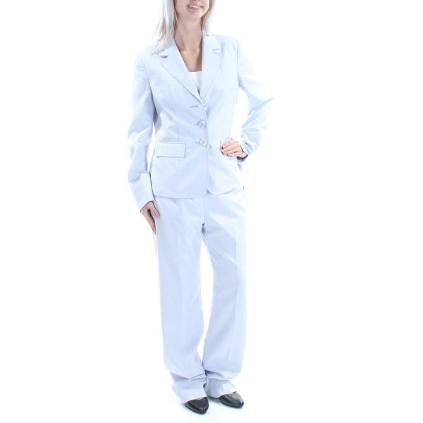 Shop Womens Light Blue Wear To Work Straight Leg Pant Suit Size 6
