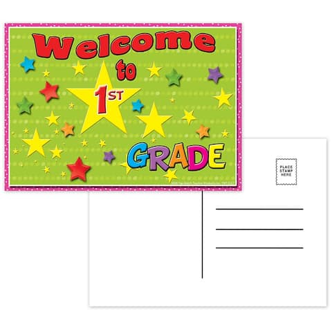 (12 Pk) Postcards Welcome to 1St Grade