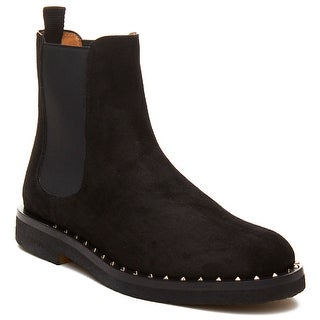 Valentino Men's Leather Studded Chelsea Boot Shoes Black (2 options available)
