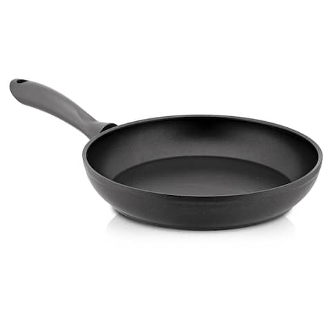 24cm Non Stick Aluminum Induction Frying Pan with Handle, Black, yfg9