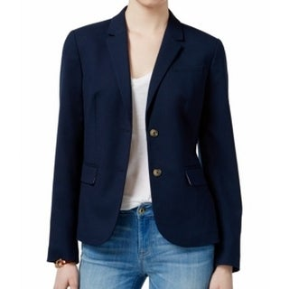 Tommy Hilfiger NEW Blue Navy Women's Size 12 Two-Button Classic Blazer