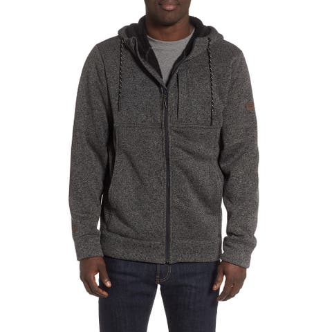 Billabong Mens Sweater Heather Gray Size Small S Boundary Sherpa Hooded