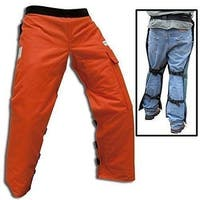 "Forester Chainsaw Safety Chaps with Pocket, Apron Style (Long 40"", Orange)"