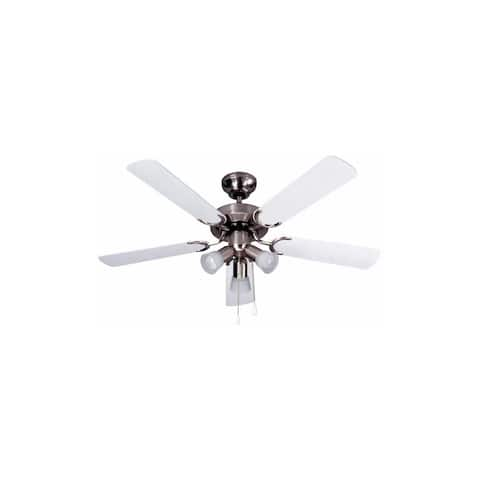 Canarm CF10242551S Omni 3 Light 5 Blade Hanging Ceiling Fan - Brushed Pewter