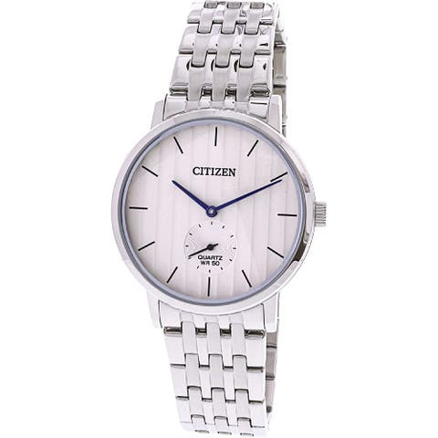 Citizen Men's BE9170-56A 'Dress' Stainless Steel Watch - White