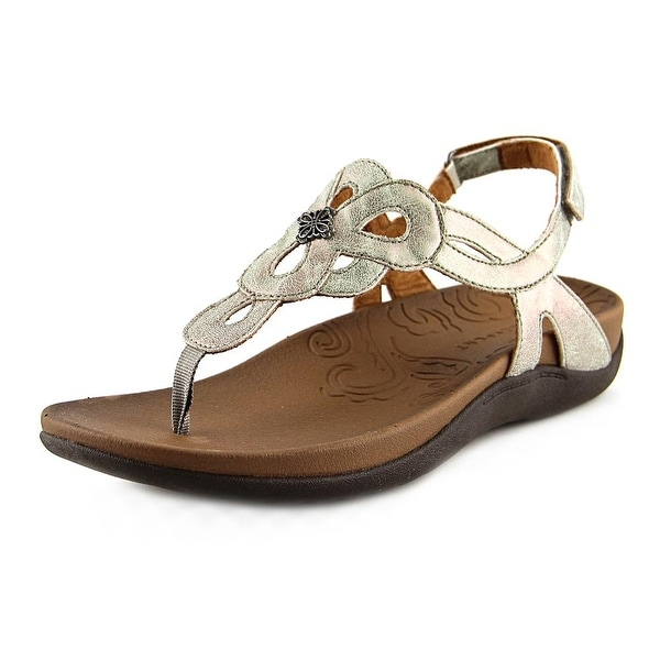 Rockport Rosalie Women Open Toe Leather Gray Thong Sandal