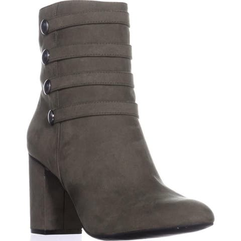 1f7daf7e3 Kenneth Cole REACTION Time To Be Block-Heel Booties, Fern - 10 US /